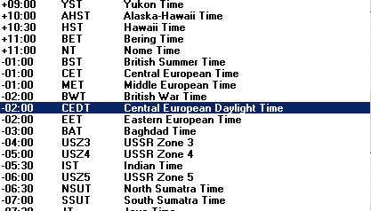 Tạo danh sách Time Zones với PHP