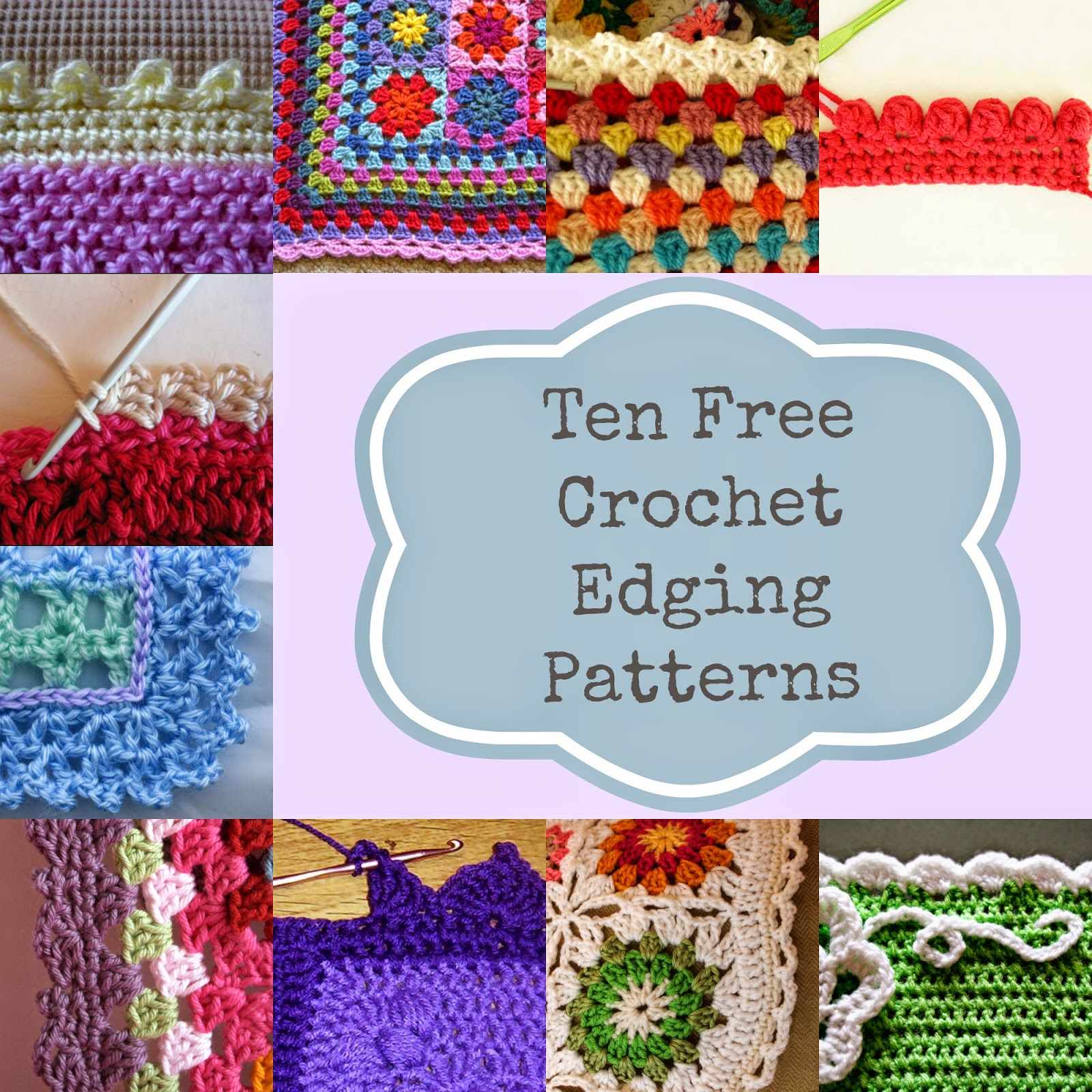 Free Crochet Pattern Afghan Edging : Knot Your Nanas Crochet: 10 Ways To Get The Perfect ...