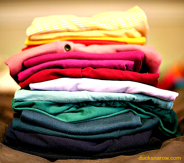folded clothes, folded laundry #organizing #cleaning #laundry