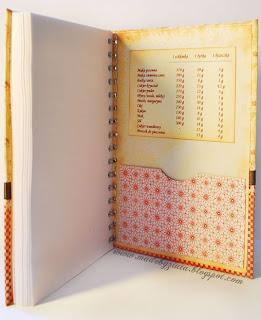 scrapbooking przepiśnik notes kulinarny card making