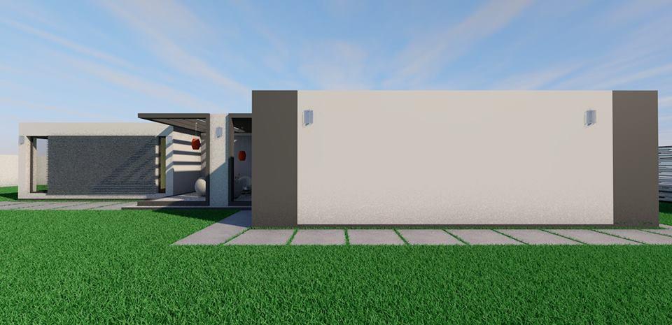 Arhiconstruct casa parter minimalista metalica 160 mp for Piani di casa minimalista