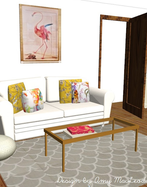 Interior design - 3D virtual - by Amy MacLeod (www.fivekindsofhappy.com)