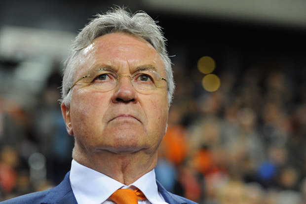 EYED: Guus Hiddink could replace Jose Mourinho until the end of the season