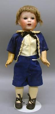 Acheter, poupee, SFBJ, costume bleu