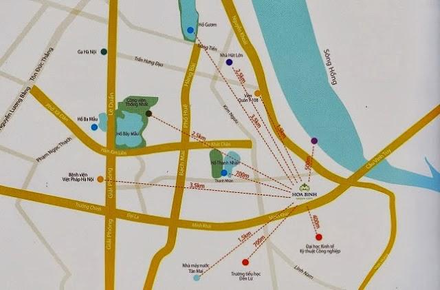 Vị trí chung cư Hòa Bình Green City