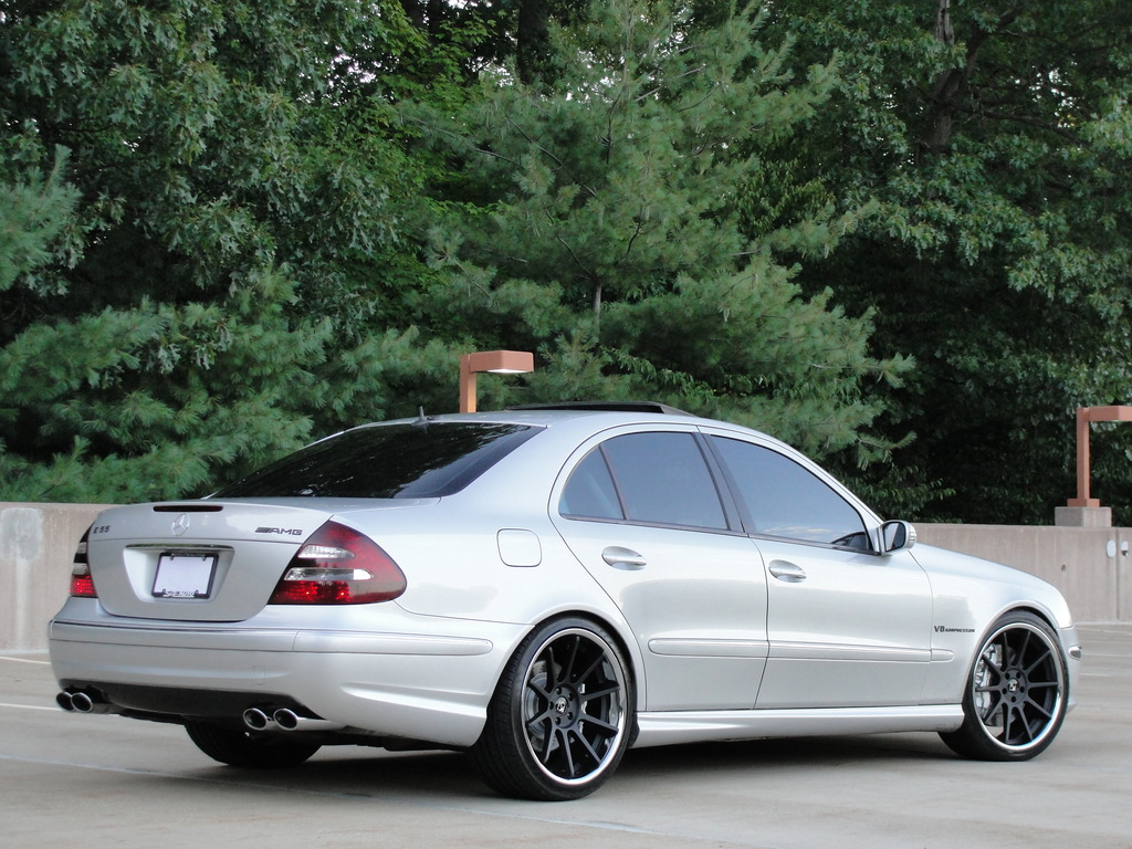 Mercedes benz w211 e55 amg on r20 rims benztuning for Mercedes benz wheels rims