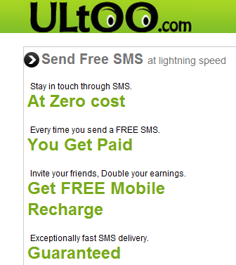 free mobile recharge from Ultoo