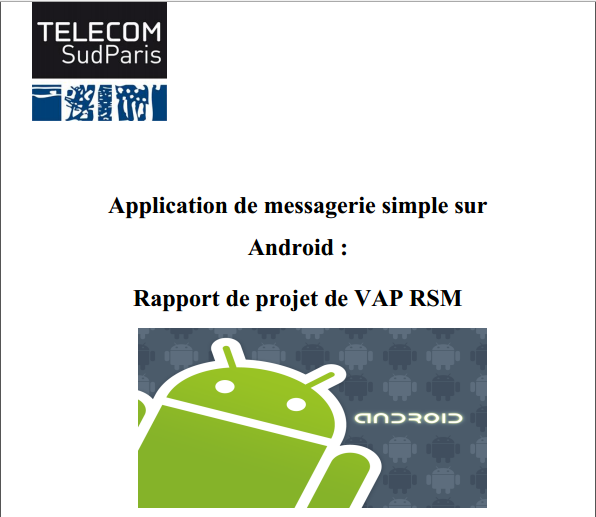 rapport  application de messagerie simple sur android