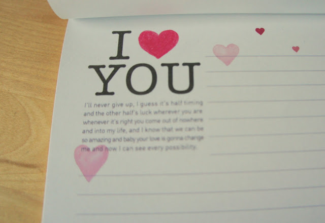 Letter paper with illustration of a heart