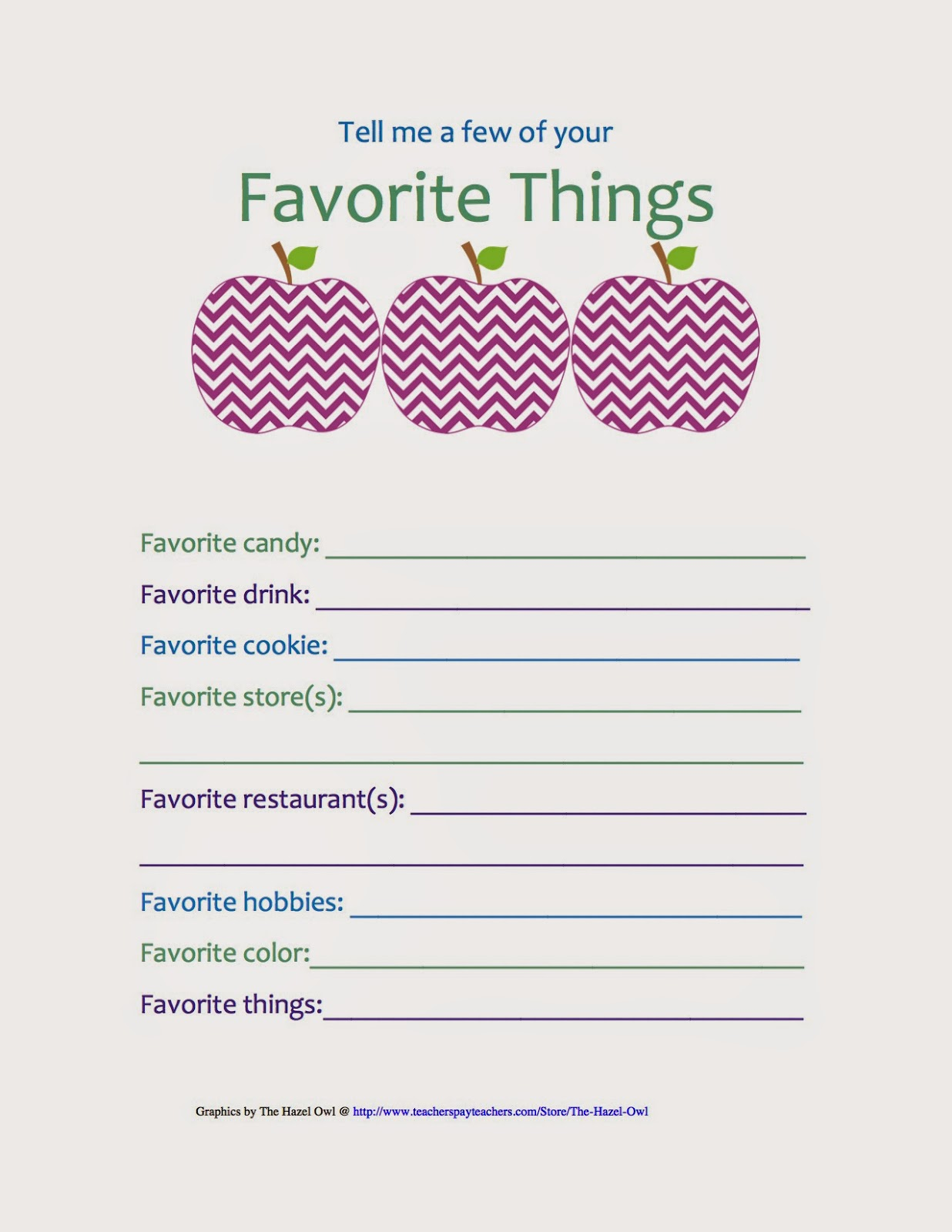 picture regarding Teacher Favorite Things Printable referred to as bybmg: Again in direction of University Weblog Hop: Get Treatment of That Trainer