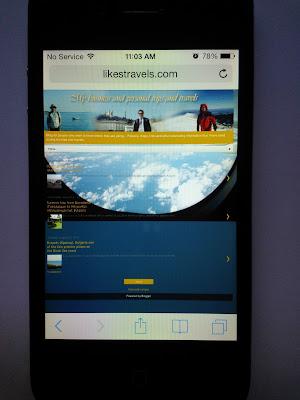 iPhone 4, iOS 7 Safari
