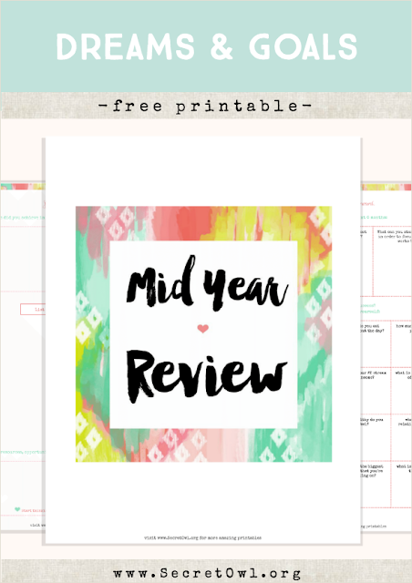 Secret OWL Society: Free Mid-Year Review Printable