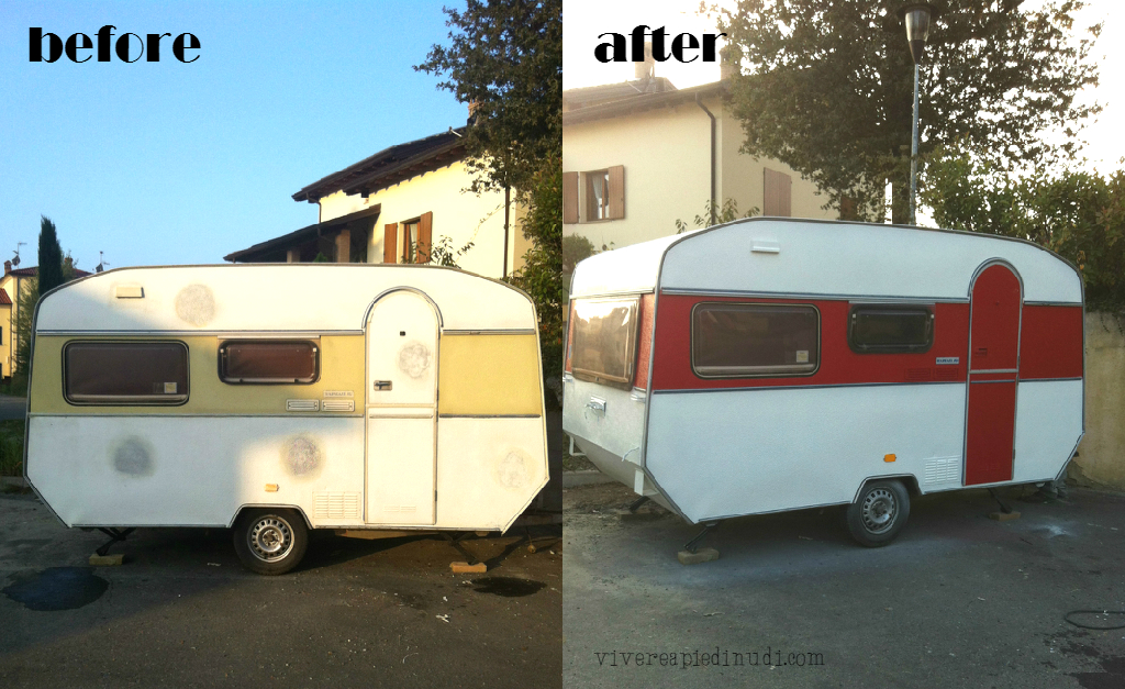 Vivere a piedi nudi living barefoot my vintage caravan for Interno roulotte
