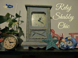 DIY reloj shabby chic
