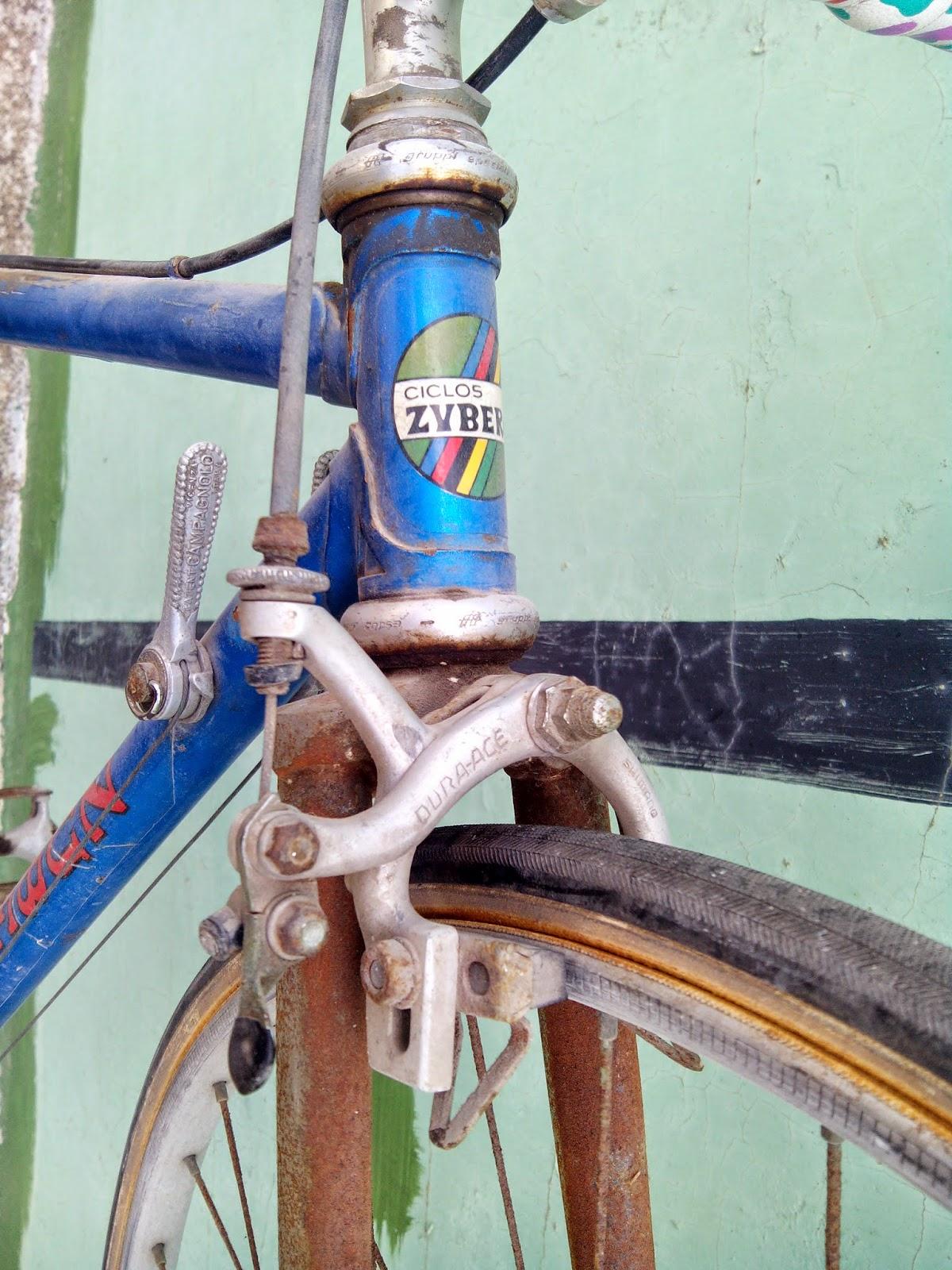 le vélo calme: Cromado de la horquilla Zubero y limpieza componentes