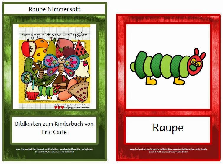 Drachenstubchen Daf Bildkarten Zur Raupe Nimmersatt