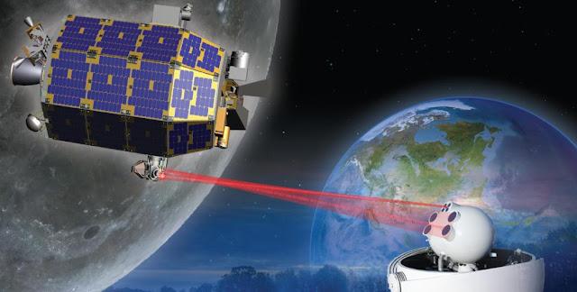 Artist's rendering of the LADEE satellite in orbit. Image Credit: NASA