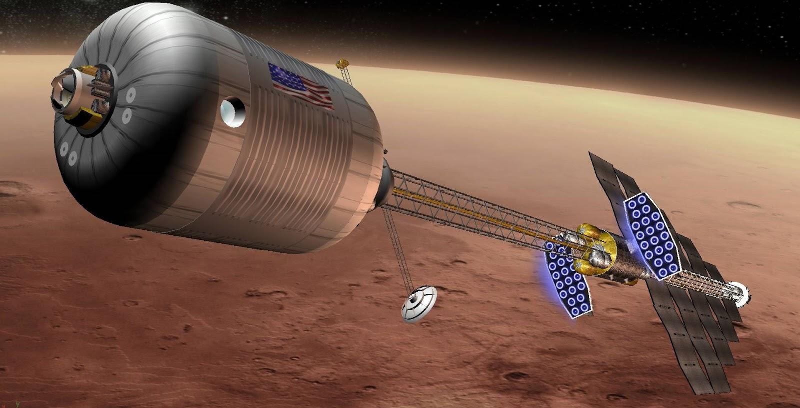 Resultado de imagen de El DAV será la nave de ascenso que utilizará la tripulación en su día para despegar de la superficie al acabar su estancia en el planeta rojo