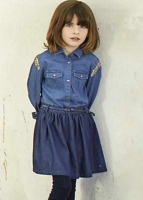 Total look denim #IKKS #ministyle #modaniña