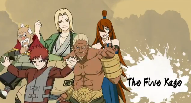 Naruto Shippuden Ultimate Ninja Storm Generations Playable Characters The Five Kage
