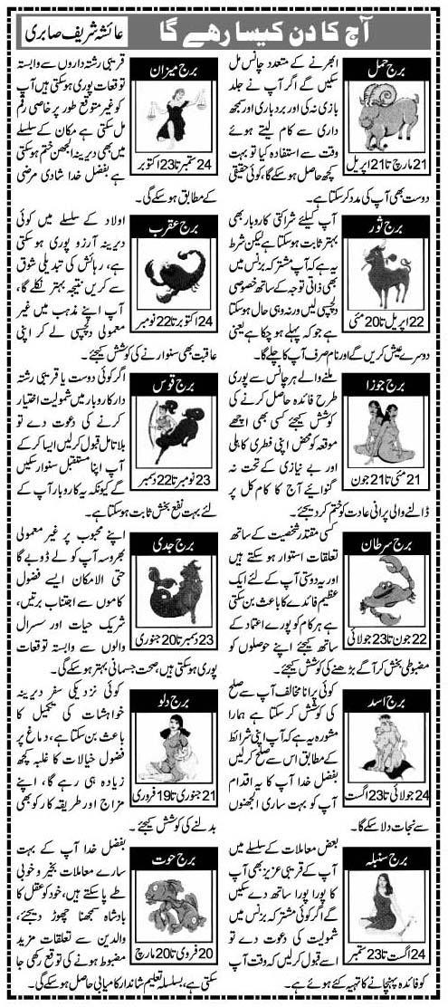 Urdu Horoscopes