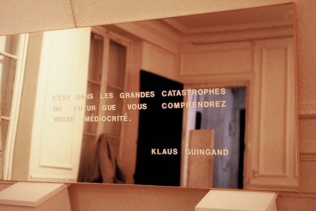 Klaus Guingand sentence on mirror 60 x 28 in.