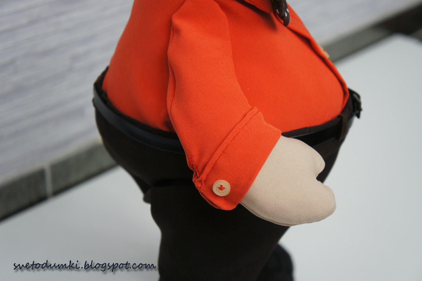 рубашка для текстильной игрушки оранжевый