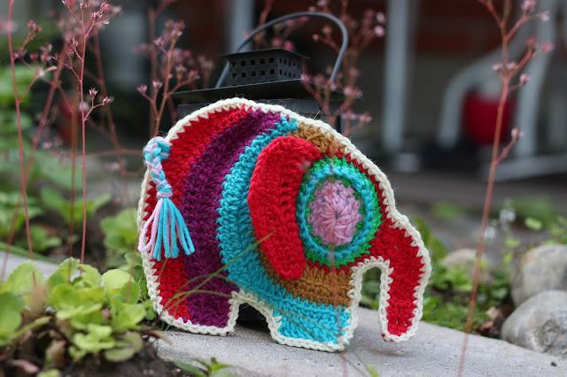 virkattu elefantti norsu crochet elephant