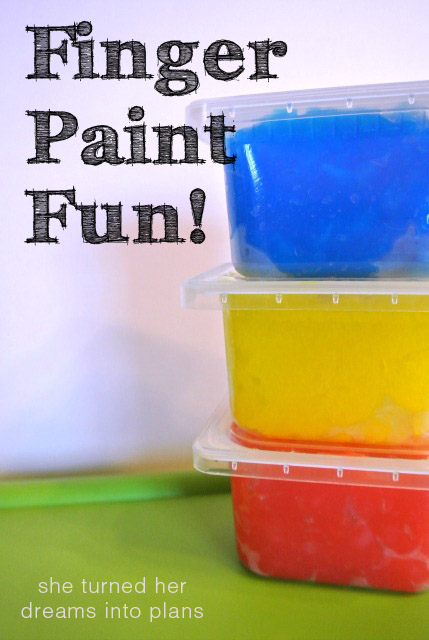 Finger Paint Fun! A Recipe for Homemade Finger Paint