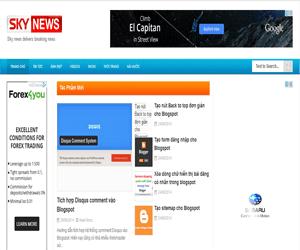 Share template blogspot tin tức cá nhân hỗ trợ tối đa quảng cáo