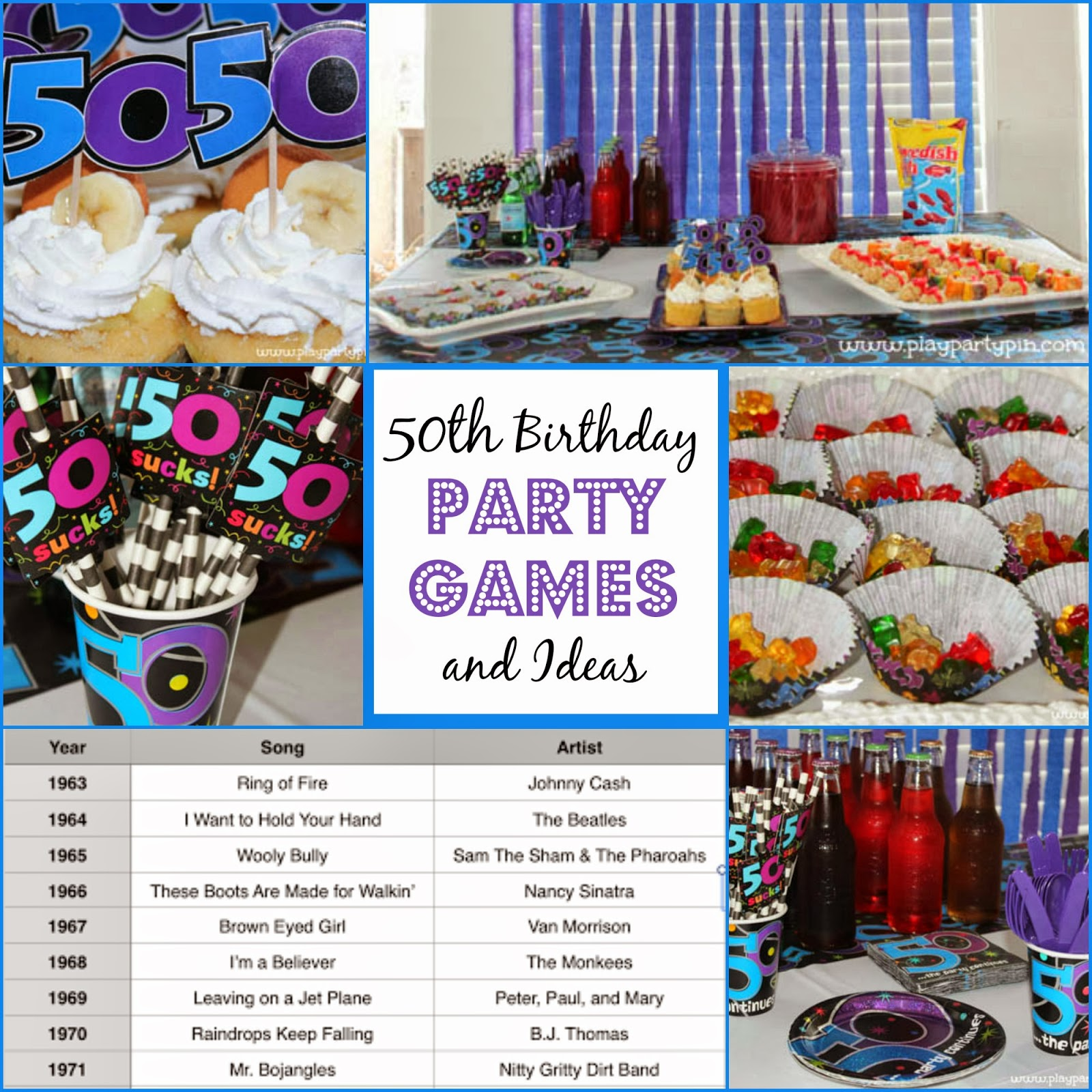 50th birthday party games and ideas from playpartypin.com #party #50th ...