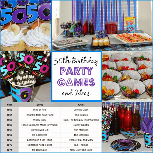 50th birthday party games and ideas for 50th birthday decoration packages