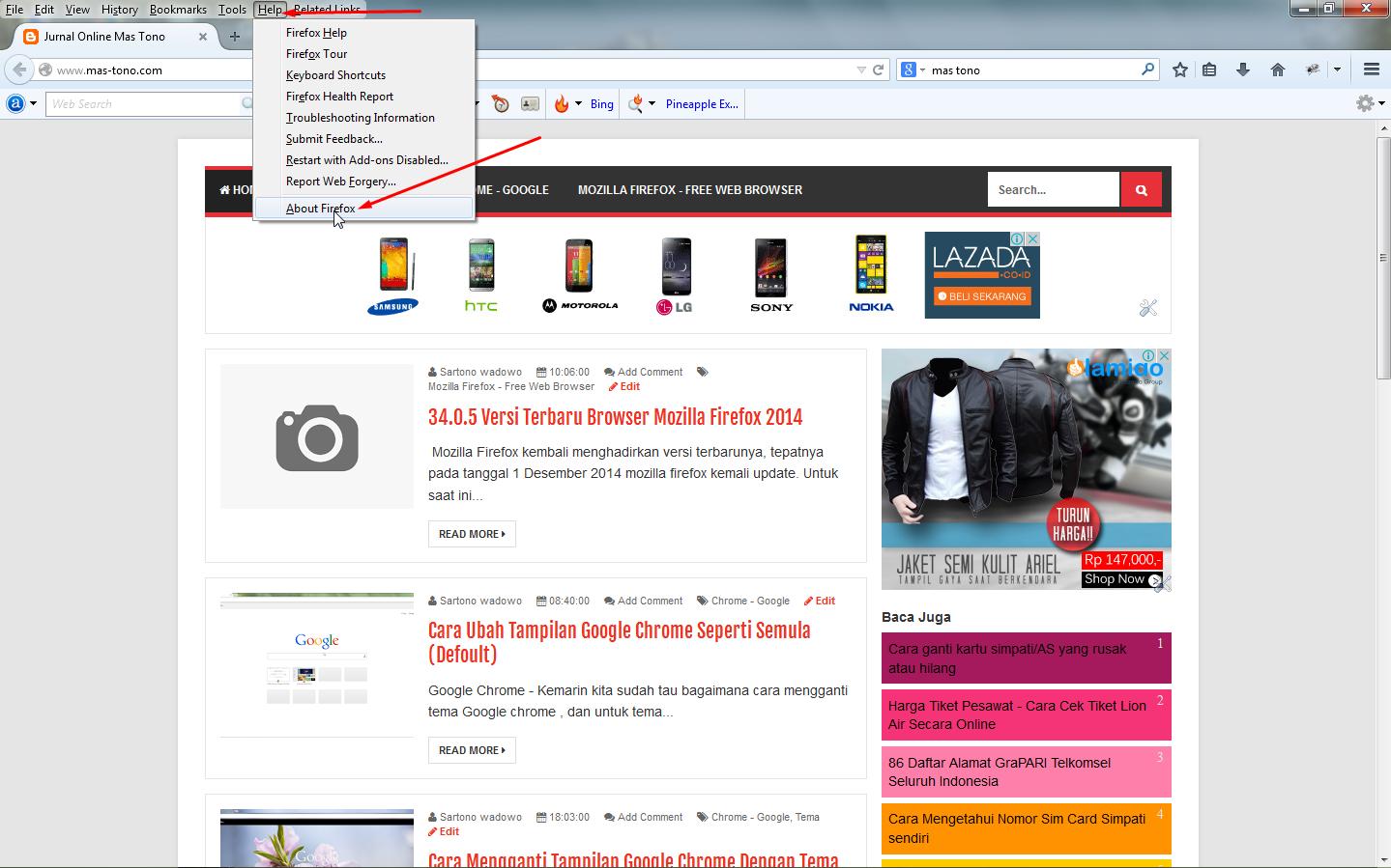 Cara Update Mozilla Tanpa Harus Install Ulang