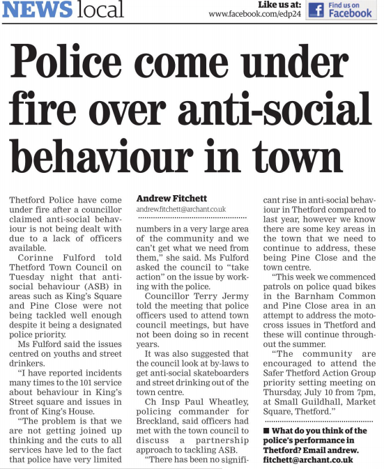 an introduction to the issue of anti social behaviour If you are experiencing problems with anti-social behaviour, or have any concerns about it, or other community safety issues.