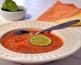 Cantaloupe-Tomato Gazpacho