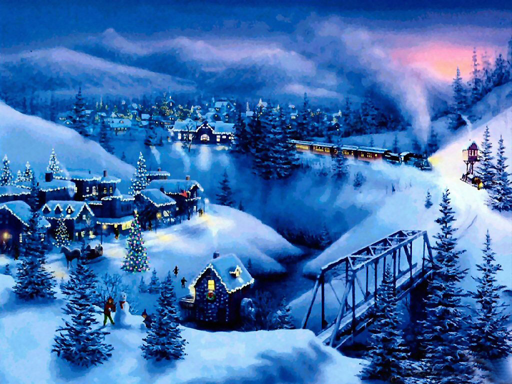Free Christmas Desktop Wallpapers: Snow Christmas ...