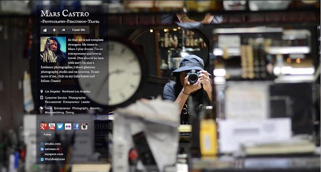 Mars Castro, Drummer, Entrepreneur & Freelance Photographer