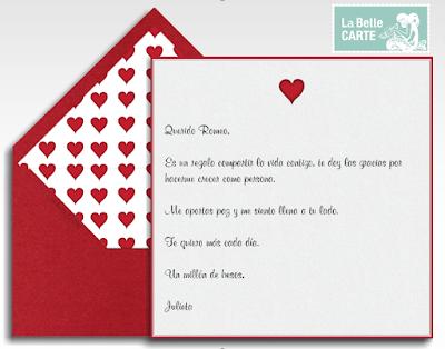 Cartas cortas de amor para san valentin, lindas
