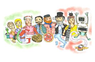 Logo con disegno di Google per Doodle 4 Google