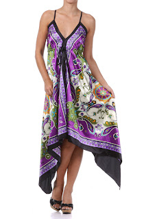 paisley handkerchief dress