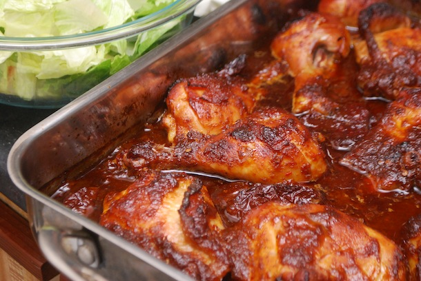 Whiskey Orange Chipotle Chicken Thighs & Drums - Always Order Dessert