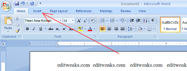 how to show page number on microsoft word