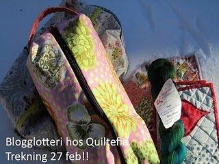 Blogglotteri hos Quiltefia