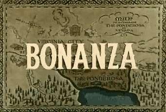 Texto de entrada de la serie Bonanza que mostraba además de las letras un pequeño mapa