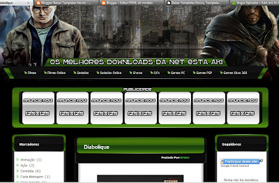 Template Lime Downloads para Blogger