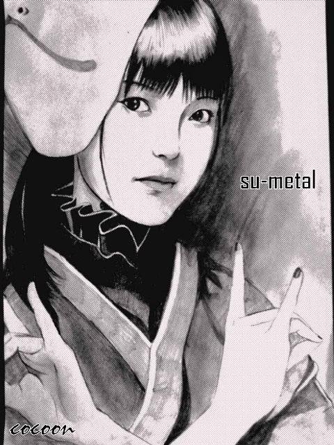 Desenho realista da Su-metal