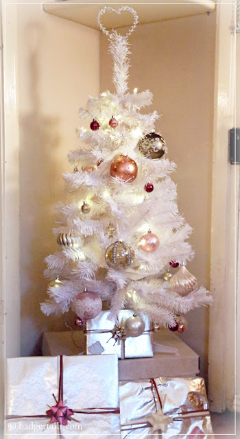 christmas decoration heirloom luxe white artificial tree with dusky pink