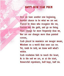Happy New year poem and Greeting