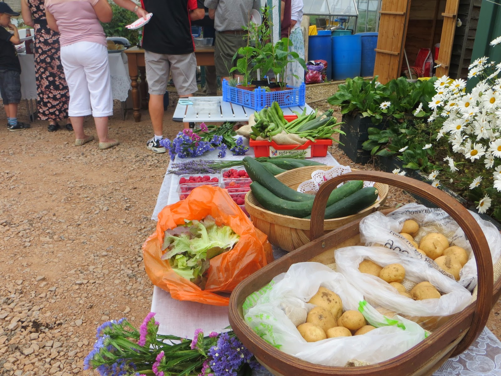 Allotments holders donated produce for sale to attendees.