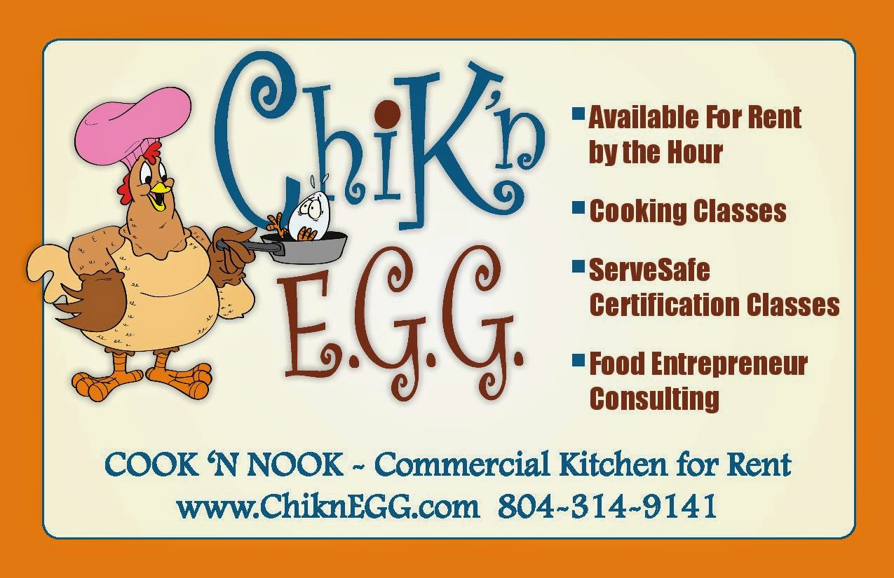 ChiknEGG's Cook 'N Nook is a commercial kitchen 4 rent by the hour in Goochland County, VA